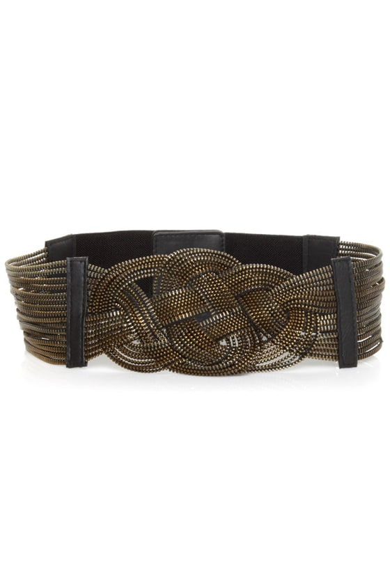 Ins and Outs Bronze Belt