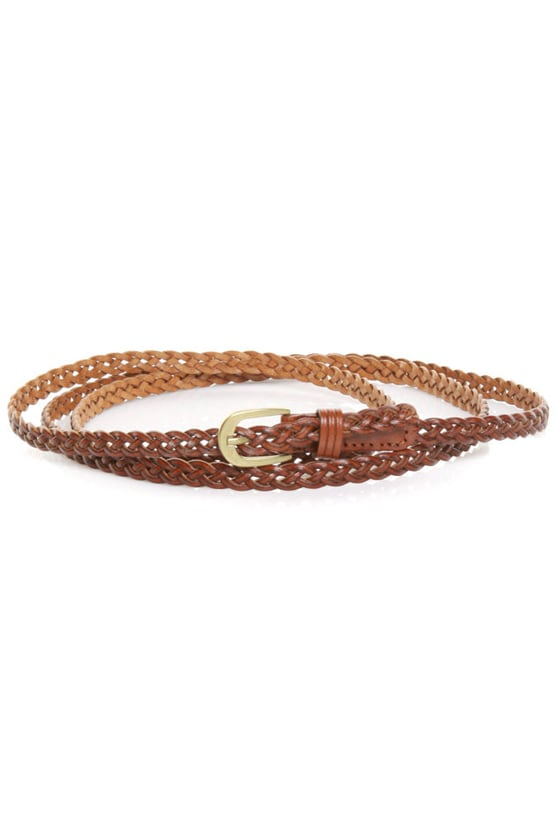Three Times a Lady Brown Leather Belt