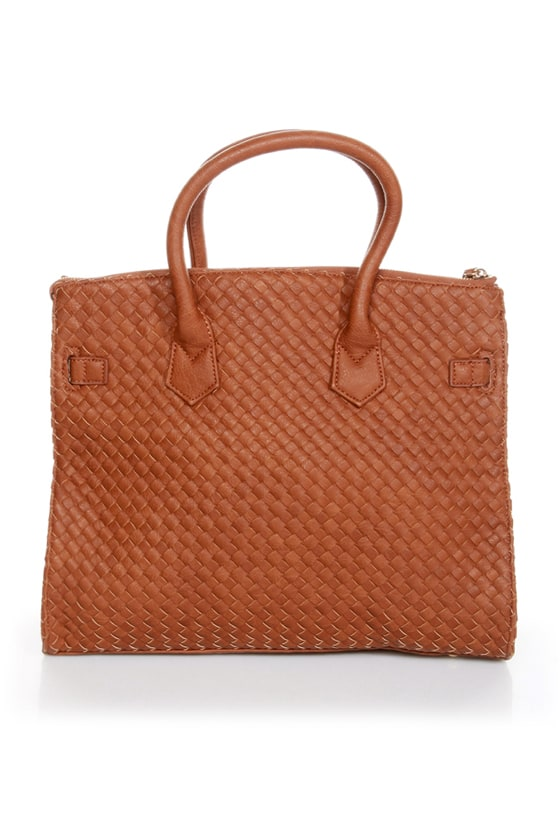 Weave Got your Back Brown Tote