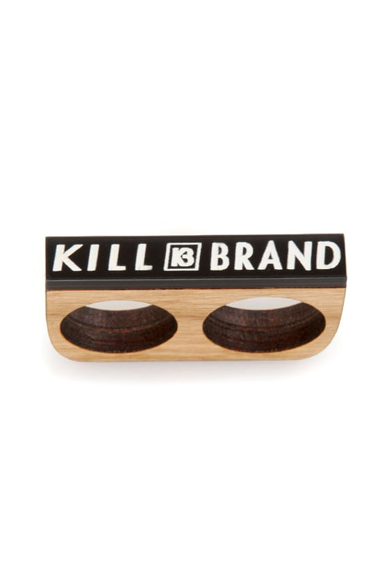 Kill Brand Wooden Two Finger Ring