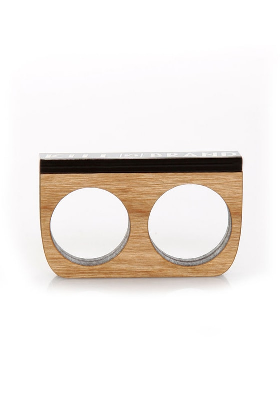 Kill Brand Wooden Two Finger Ring at Lulus.com!