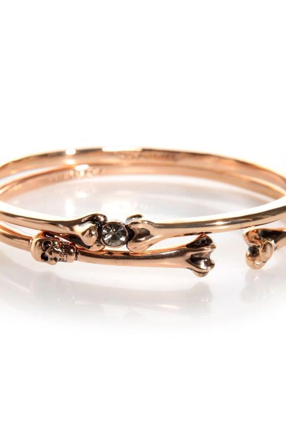 Wildfox Bangles Rose Gold Bracelets Bangle Set $61 00