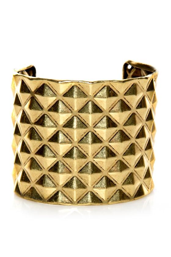 Piece o' Giza Gold Studded Cuff