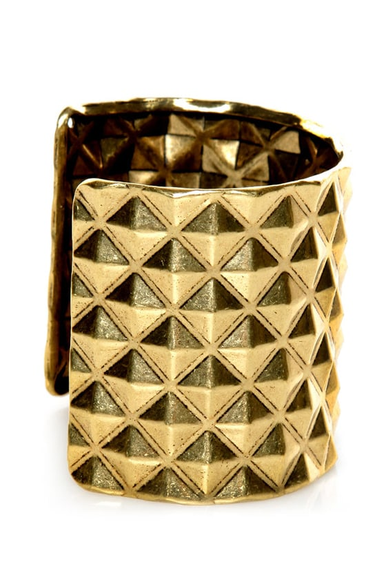 Piece o' Giza Gold Studded Cuff at Lulus.com!