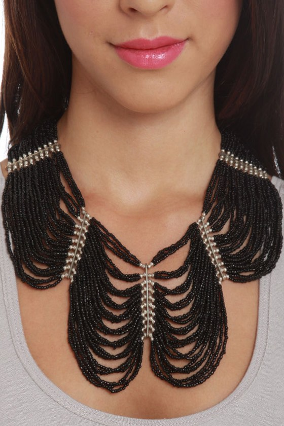 Regalia Black Beaded Necklace at Lulus.com!