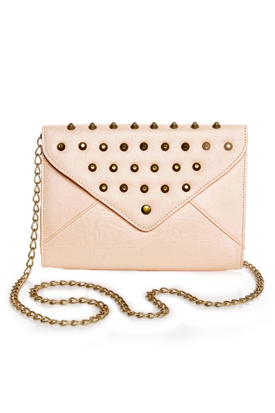 Bumpy Baby Studded Pink Clutch at Lulus.com!
