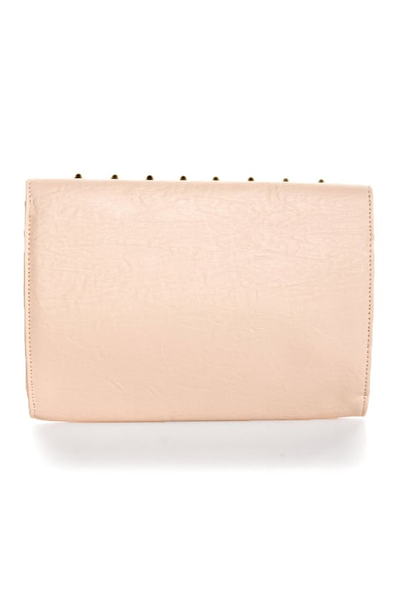 Bumpy Baby Studded Pink Clutch