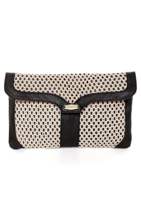 O'Neill Sandalwood Crochet Black Clutch at Lulus.com!
