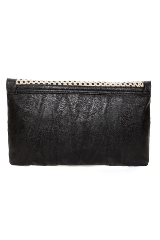 O'Neill Sandalwood Crochet Black Clutch