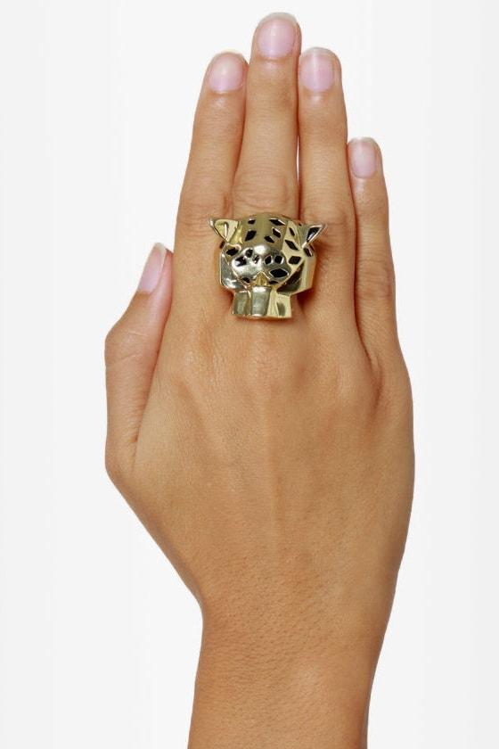Thundercat Gold Leopard Stretch Ring