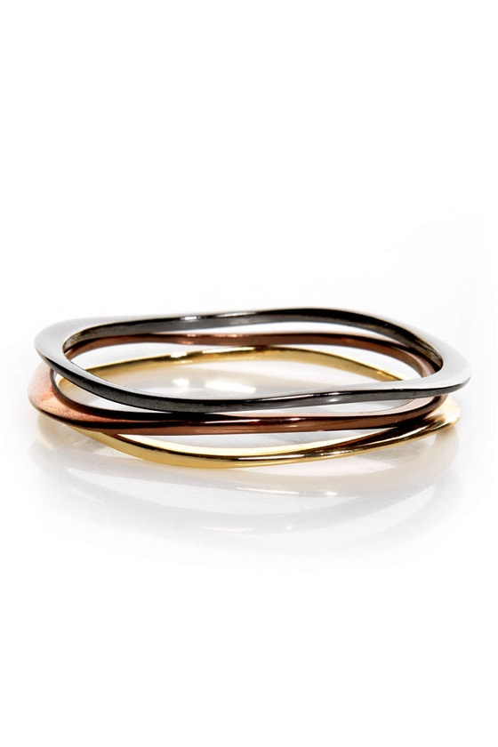 Urban Arm-er Multi Bronze Bangle Set at Lulus.com!