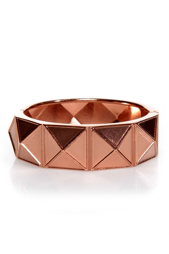 On the Facet Track Rose Gold Cuff Bracelet at Lulus.com!