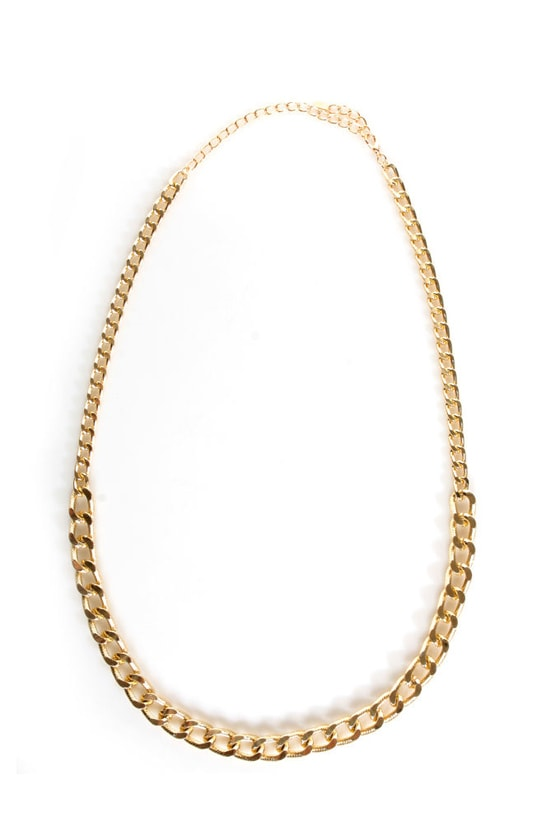Bling It on Home Gold Chain Necklace