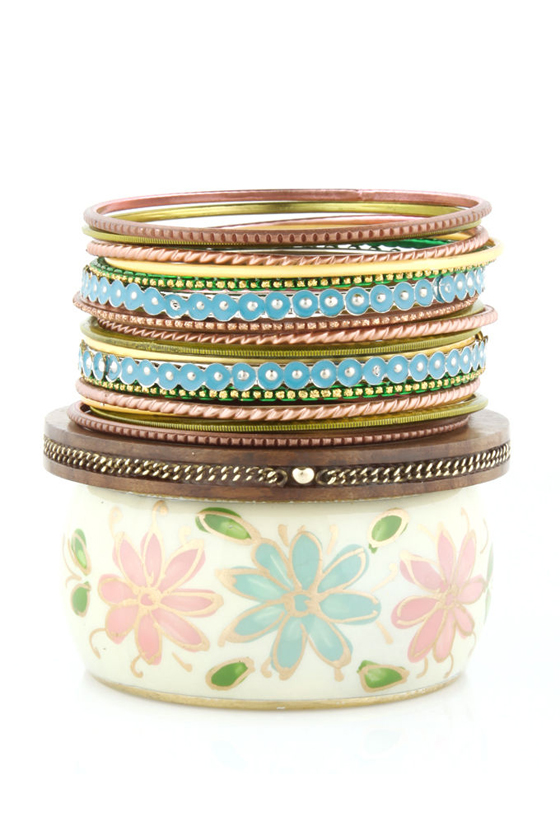 Petal Pusher Bangle Set