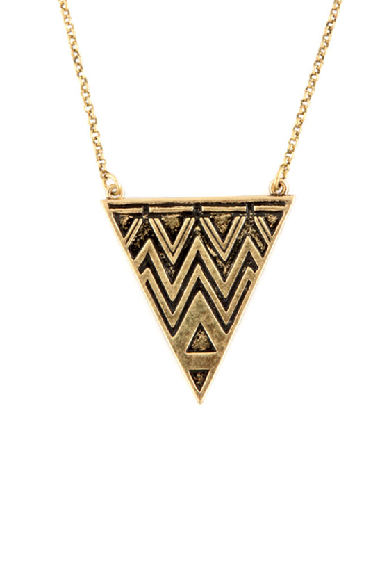 Pythagorean Theorem Gold Necklace