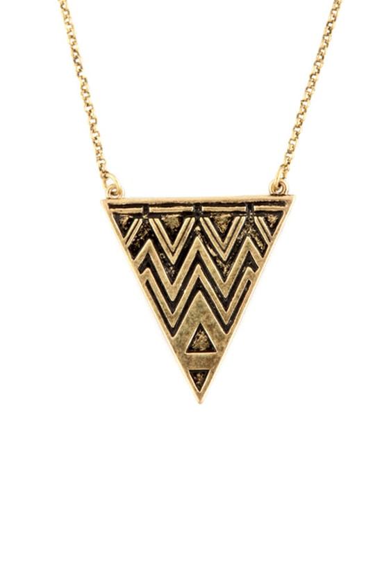 Pythagorean Theorem Gold Necklace