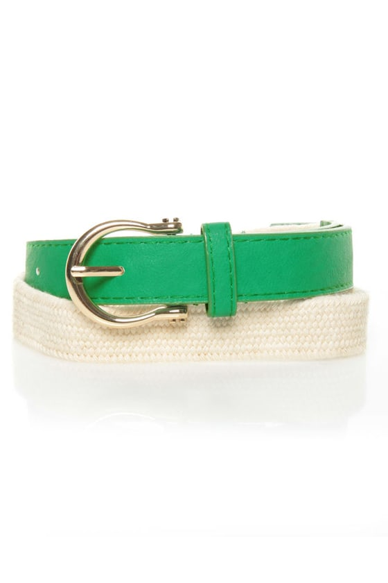 Yacht Rock Woven Green Belt at Lulus.com!