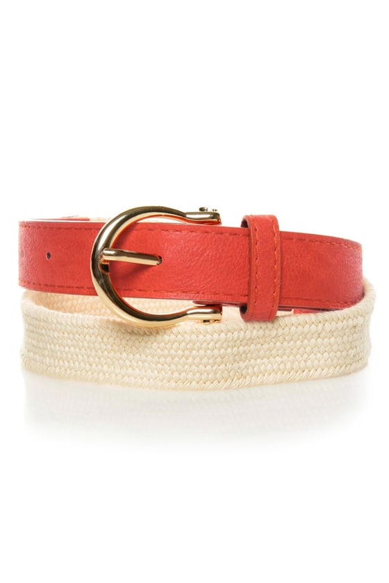 Yacht Rock Woven Orange Belt