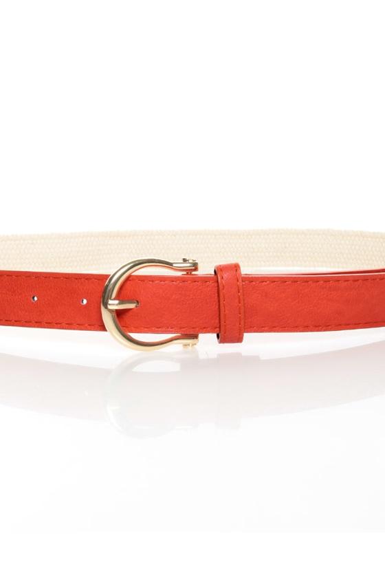 Yacht Rock Woven Orange Belt