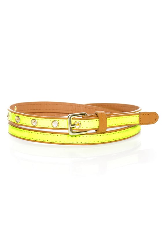 All-Bright-er Neon Skinny Belt
