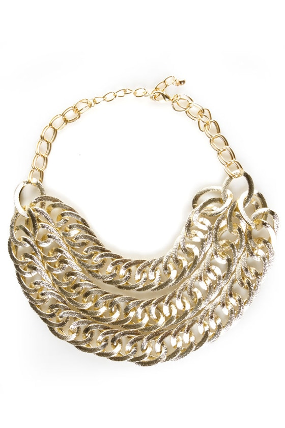 Golden Touch Gold Necklace at Lulus.com!
