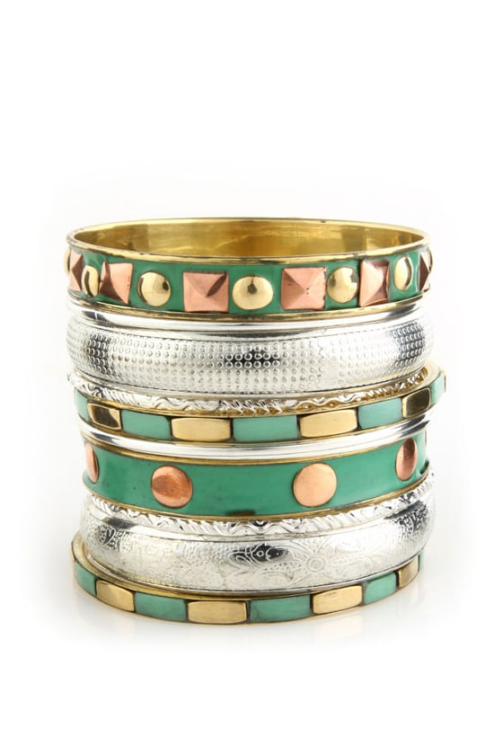 Verdigris Green Bangle Set
