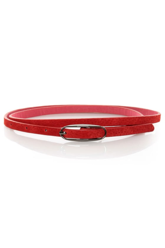 Agreement Red Skinny Belt