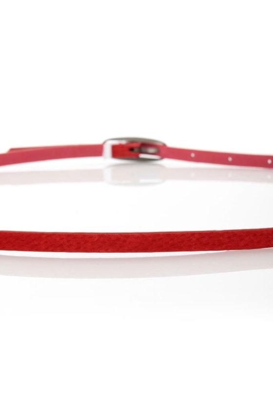Agreement Red Skinny Belt