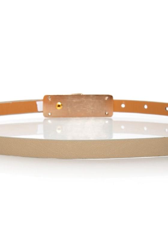 Nassau Beige Skinny Belt