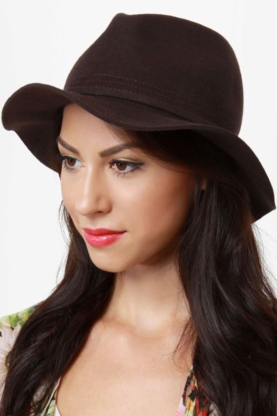 San Diego Hat Co. What a Dame Dark Brown Fedora at Lulus.com!