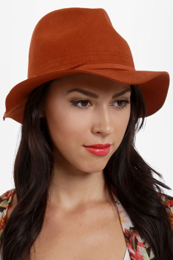 San Diego Hat Co. What a Dame Rust Orange Fedora