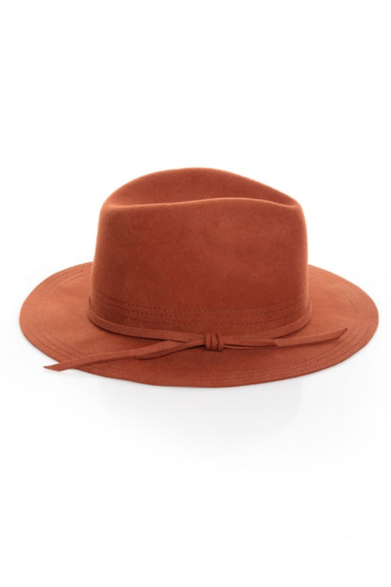 San Diego Hat Co. What a Dame Rust Orange Fedora at Lulus.com!