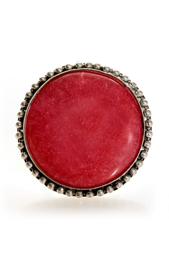 Roundoff Burgundy Cocktail Ring