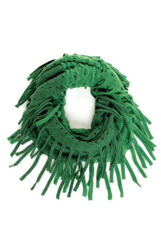 Woodland Wonder Green Fringe Infinity Scarf at Lulus.com!