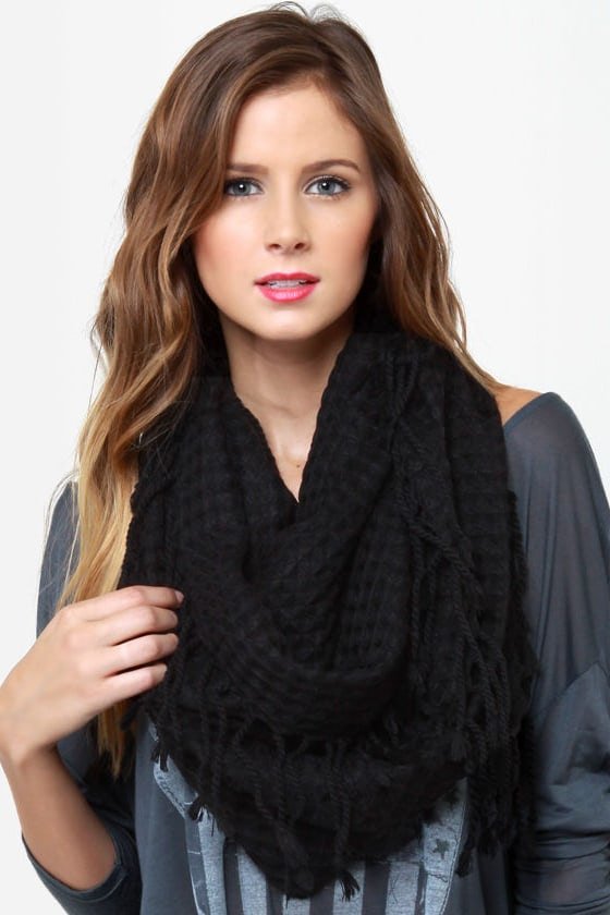 The Waffle Truth Black Infinity Scarf