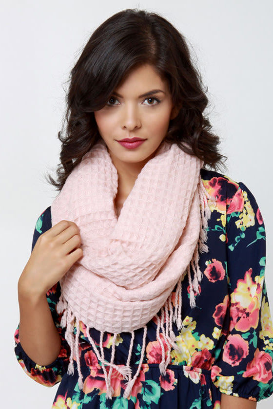 The Waffle Truth Blush Pink Infinity Scarf