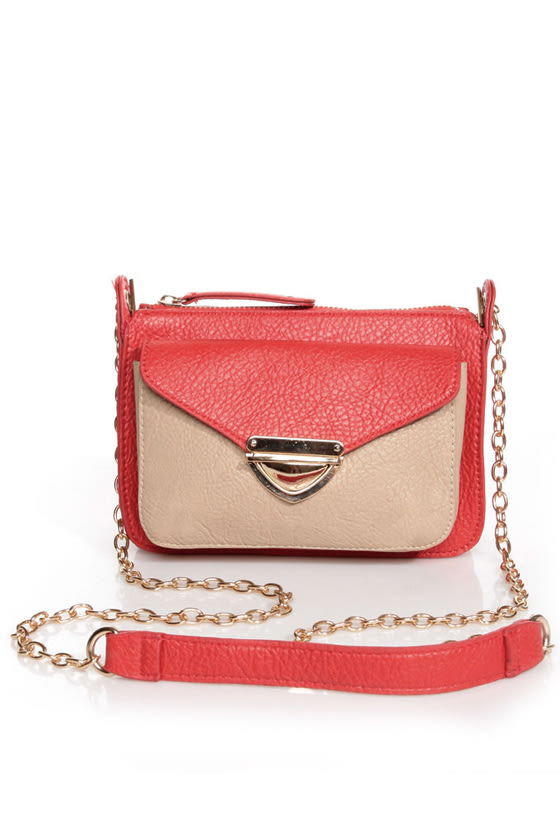Small Packages Coral Red Purse