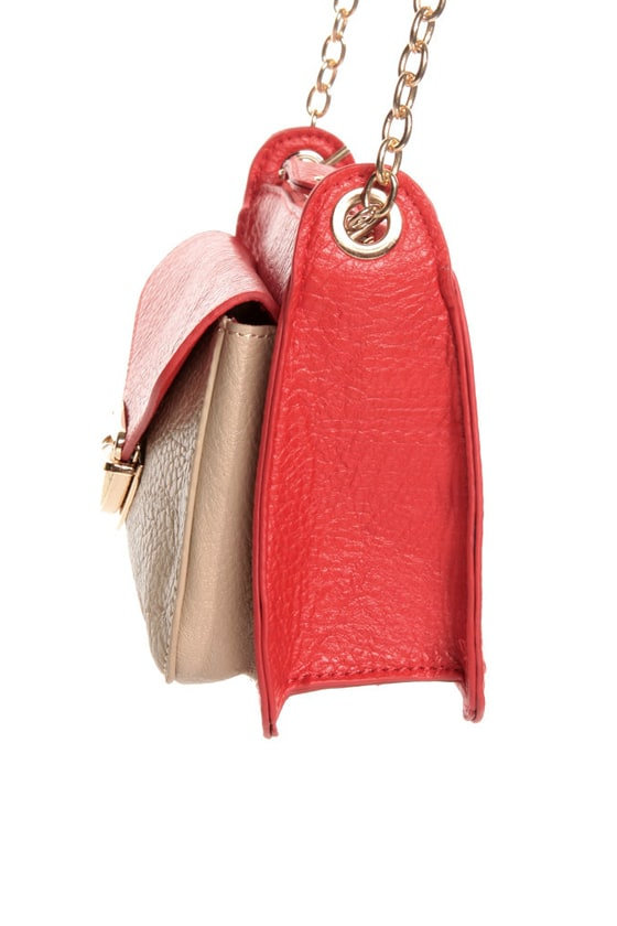 Small Packages Coral Red Purse at Lulus.com!