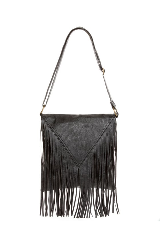 Pretty Pretty Fringe-ess Black Fringe Purse at Lulus.com!