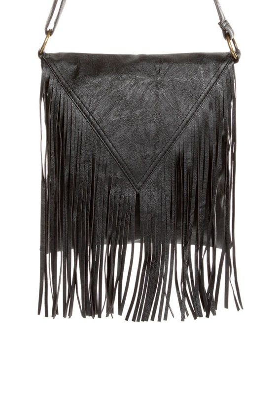 Pretty Pretty Fringe-ess Black Fringe Purse