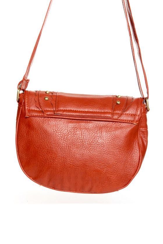 Citrus Sister Studded Orange Purse