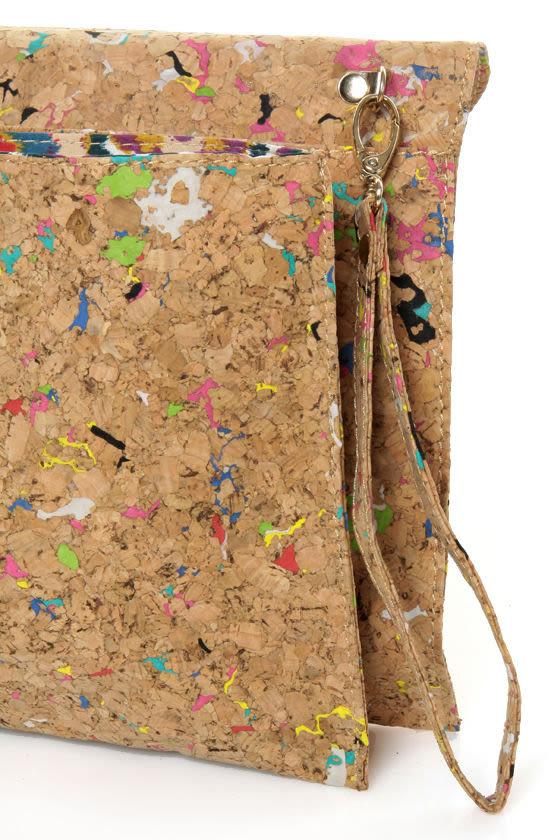 Pollock Pouch Multi Cork Clutch