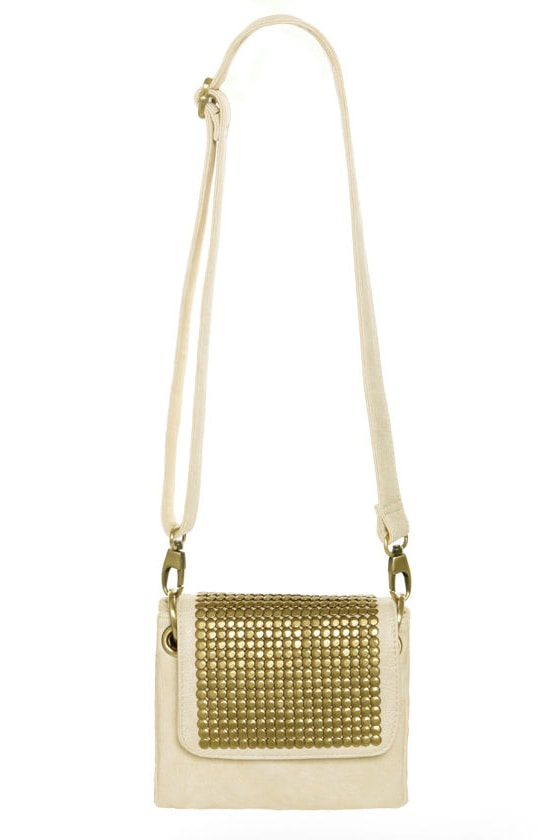 Small But Mighty Gold and Ivory Purse