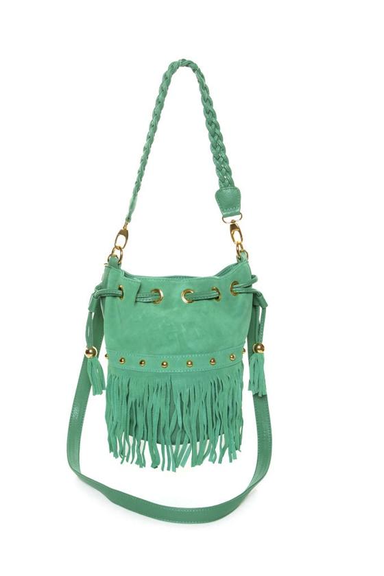 Cute Mint Green Handbag - Fringe Bag - $4