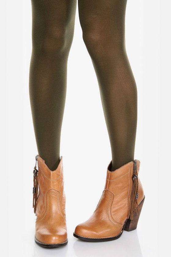 Tabbisocks Time of the Season Olive Green Tights at Lulus.com!