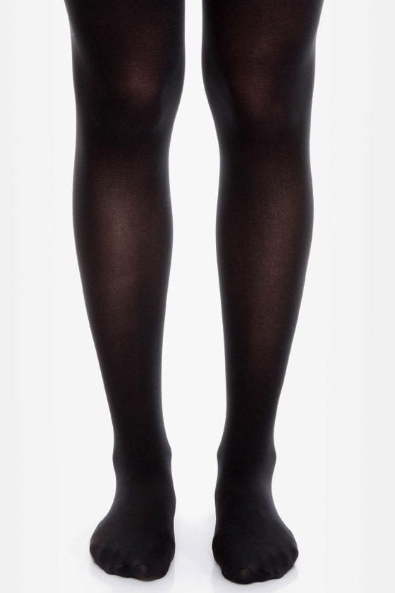 Tabbisocks Time of the Season Black Tights at Lulus.com!