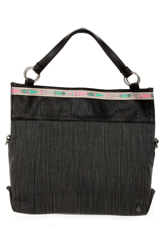 Volcom Dream Tunnel Black Handbag at Lulus.com!