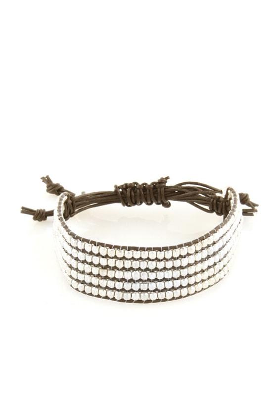 Zad Headed North Silver Beaded Bracelet
