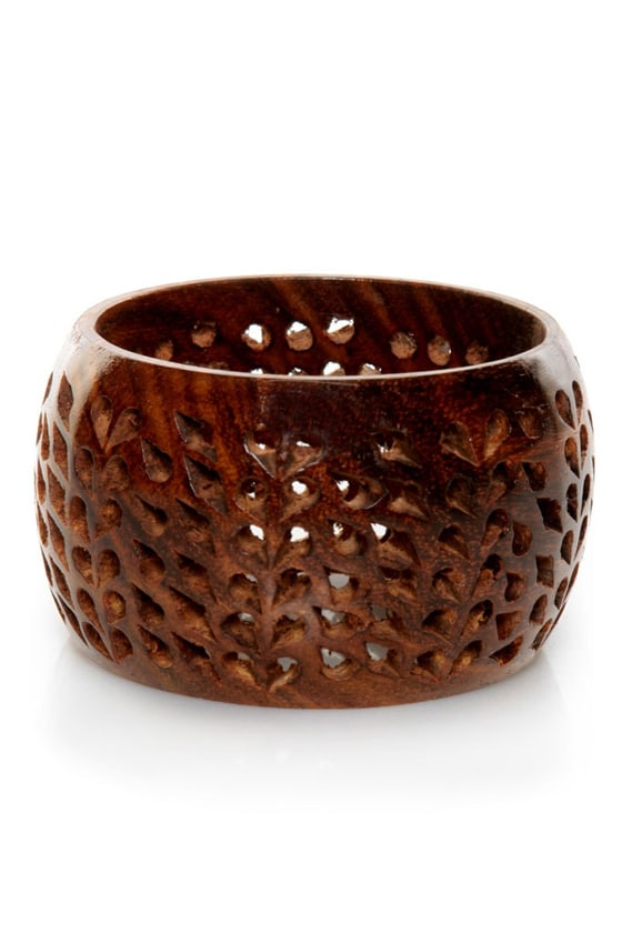 Zad Wooden It Be Nice Brown Cuff