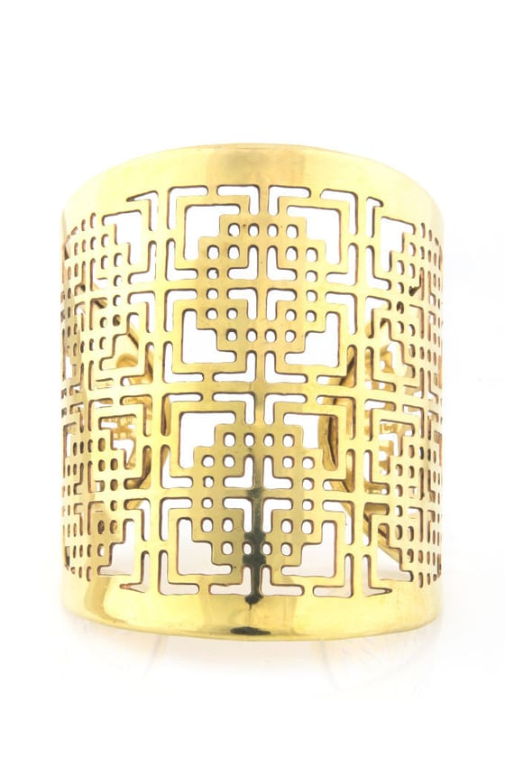 Zad Laser Power Gold Cuff